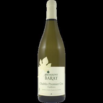 Bottle shot for 2018 Domaine Barat Chablis 1er Cru Vaillons