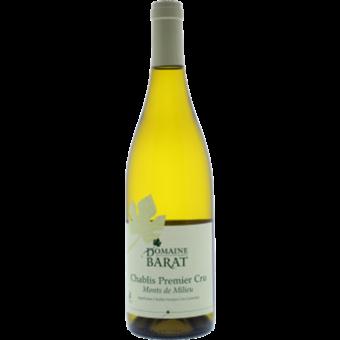 Bottle shot for 2018 Domaine Barat Chablis 1er Cru Mont De Milieu