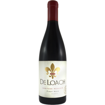 Bottle shot for 2019 Deloach Pinot Noir Heritage Reserve