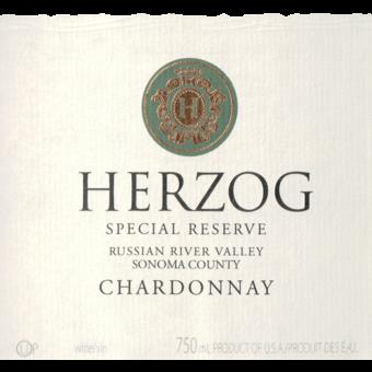 Label shot for 2018 Herzog Russian River Chardonnay Special Reserve