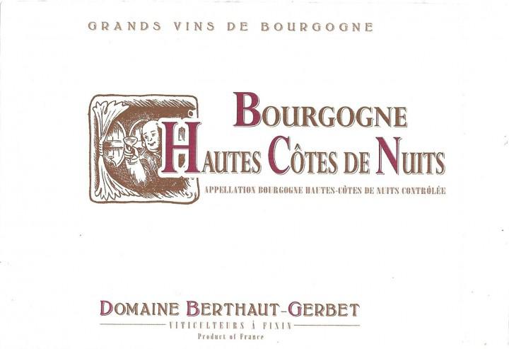Domaine Berthaut Gerbet Bourgogne Haut Cotes De Nuits 2018
