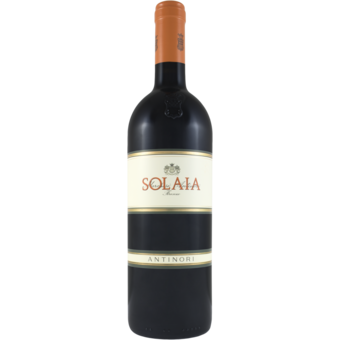 Bottle shot for 2017 Antinori Solaia