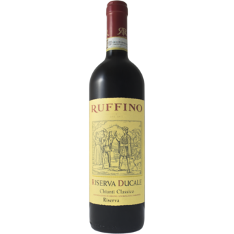 Bottle shot for 2017 Ruffino Riserva Ducale Tan