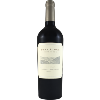 Bottle shot for 2017 Pine Ridge Cabernet Sauvignon Napa Valley