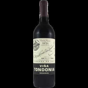 Bottle shot for 2008 Lopez De Heredia Vina Tondonia Rioja Reserva