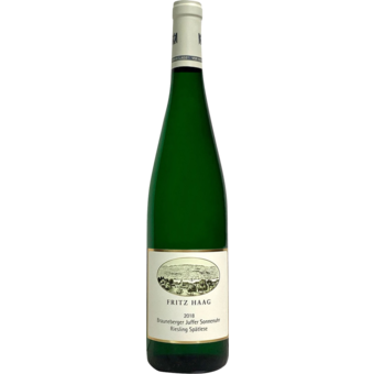 Bottle shot for 2018 Fritz Haag Brauneberger Juffer Sonnenuhr Spatlese Riesling