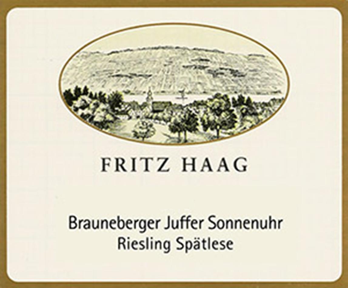 Fritz Haag Brauneberger Juffer Sonnenuhr Spatlese Riesling 2018