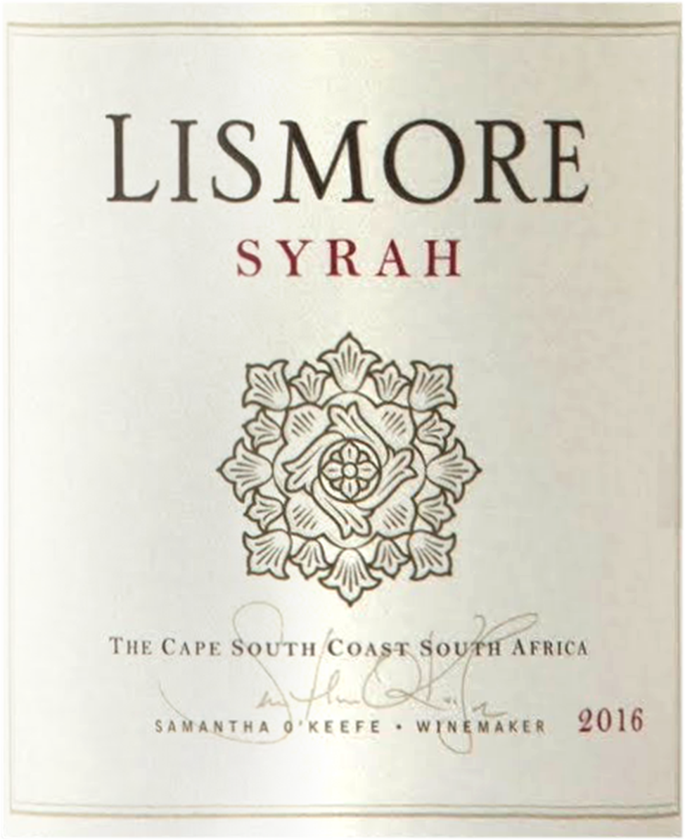 """Lismore Syrah """"Greyton"""" 2016"""