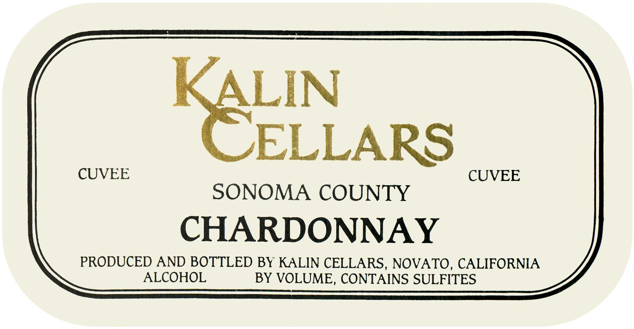 Kalin Cellars Chardonnay Cuvee W Livermore Valley 1996