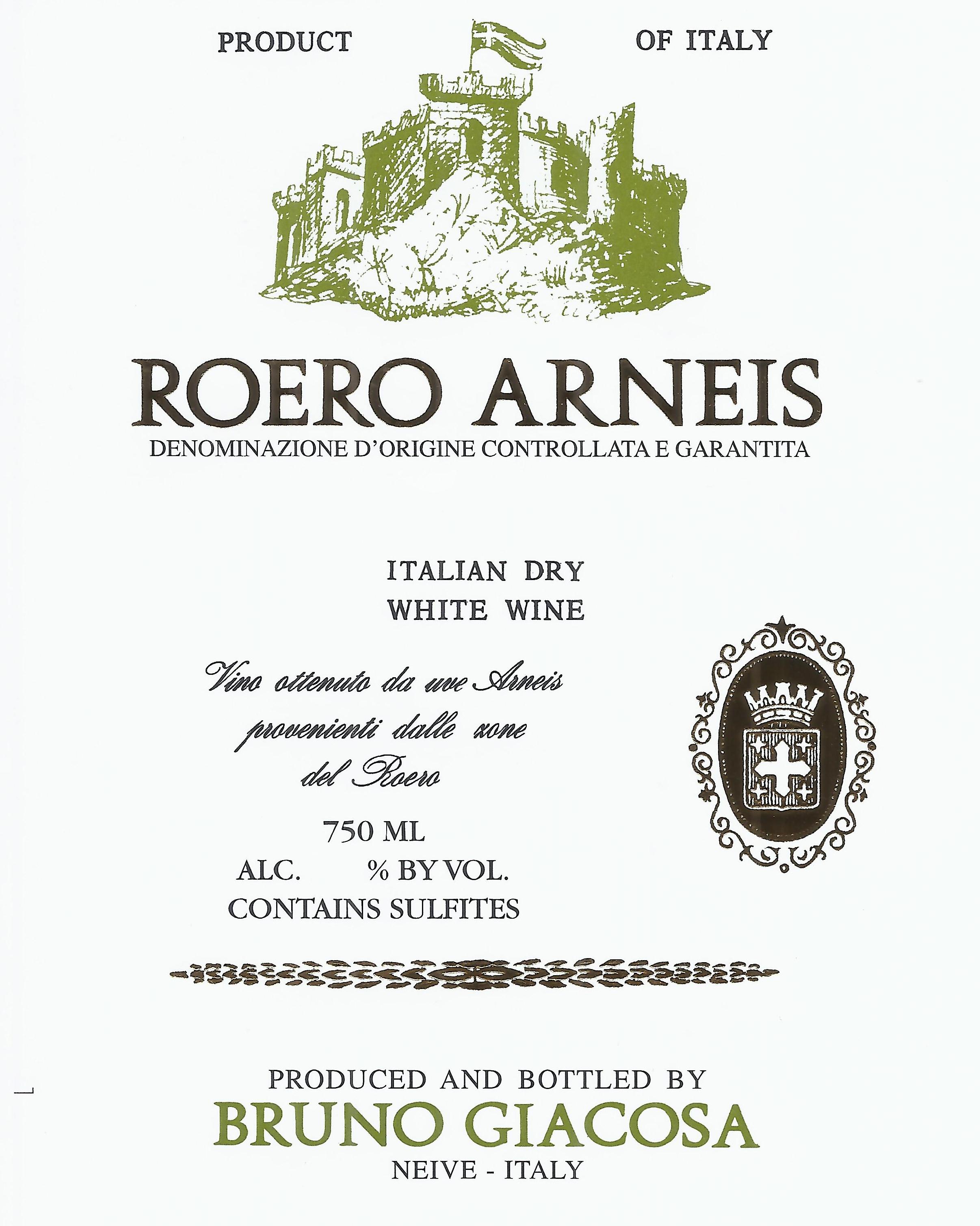 Bruno Giacosa Roero Arneis Docg 2019