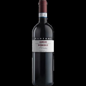 Bottle shot for 2018 Giovanni Manzone Il Crutin Langhe Nebbiolo