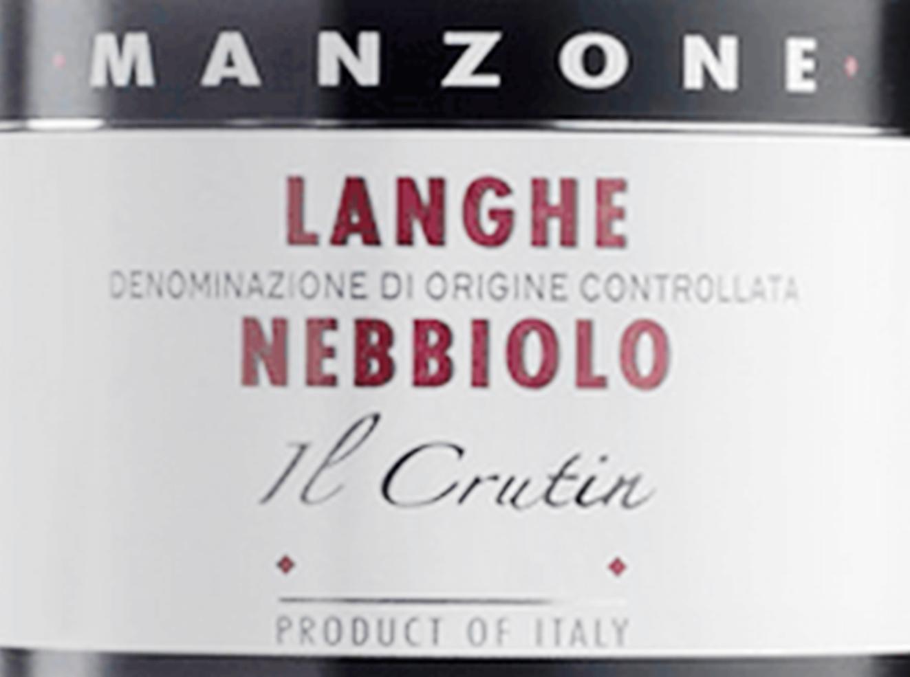 Giovanni Manzone Il Crutin Langhe Nebbiolo 2018