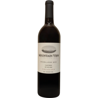 Bottle shot for 2018 Mountain View Highlands Red
