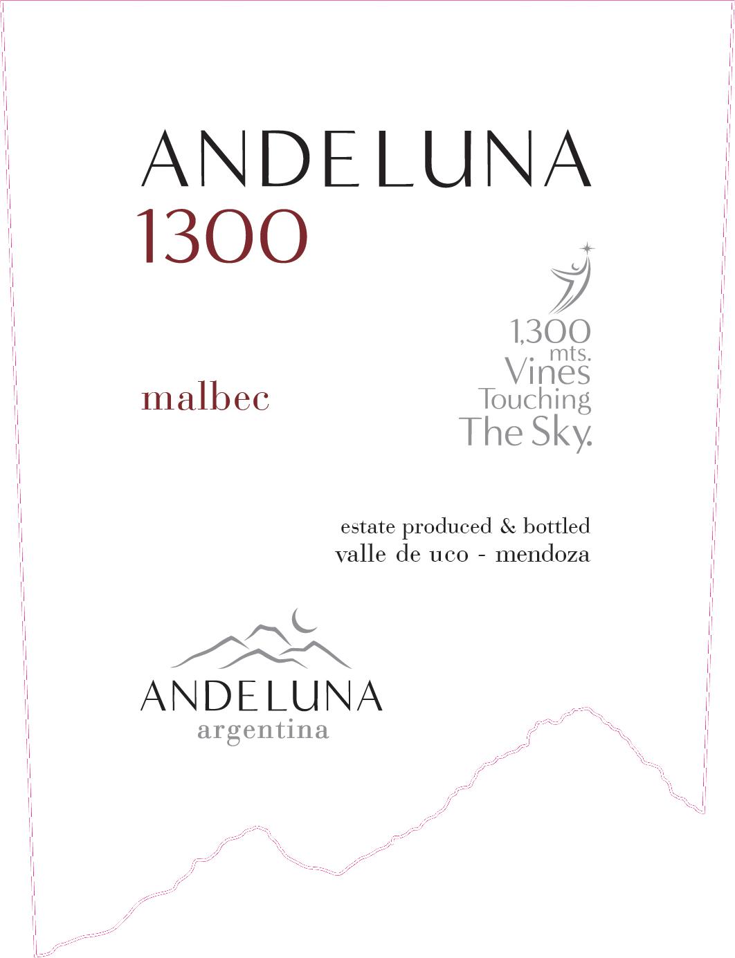 Andeluna Cellars 1300 Malbec 2019