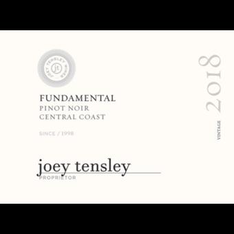 Label shot for 2018 Joey Tensley Fundamental Pinot Noir