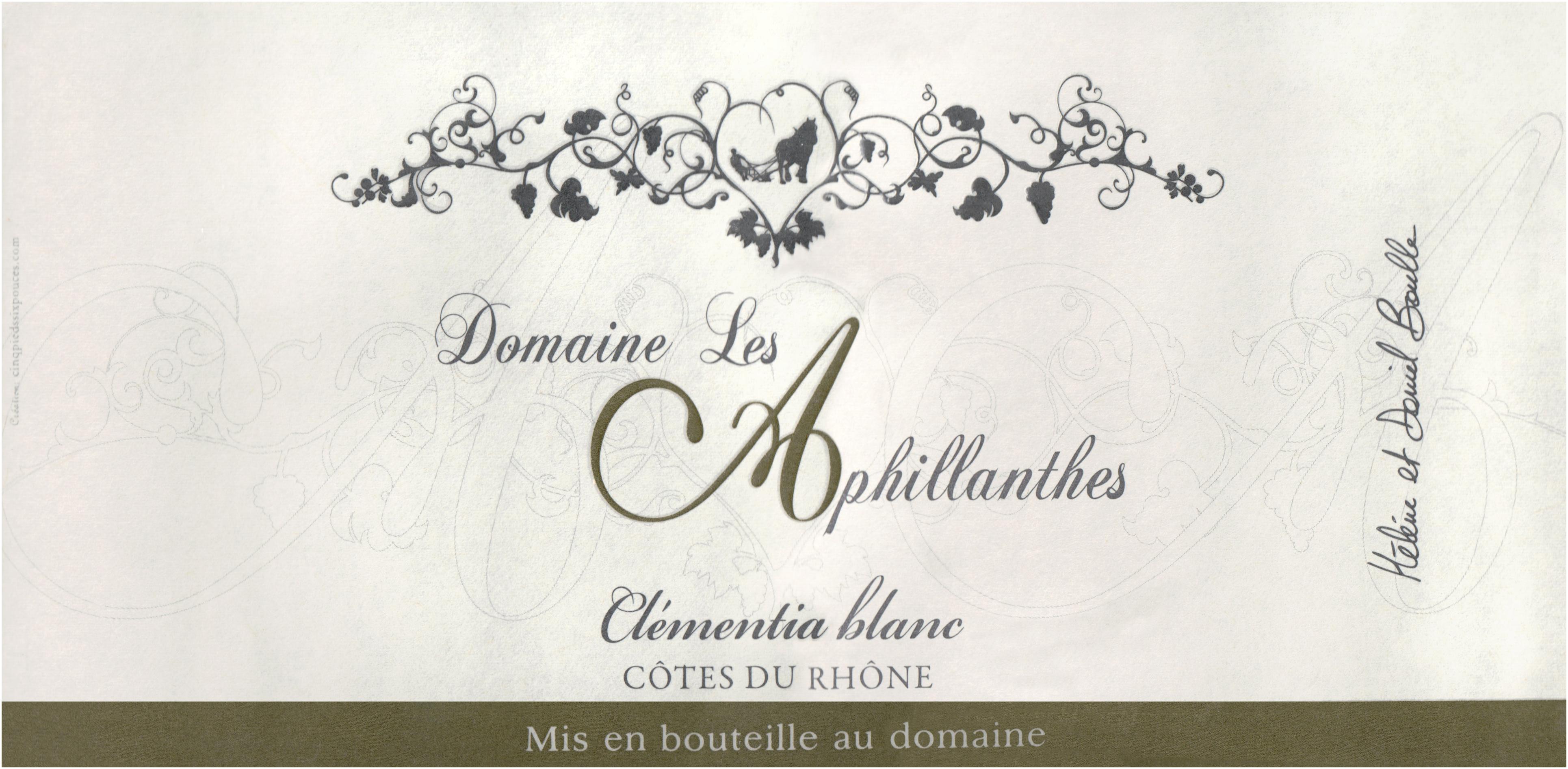Domaine Aphillanthes Cotes Du Rhone Clementia Blanc 2019