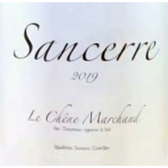 Label shot for 2019 Alex Chaumeau Sancerre Chene Marchand