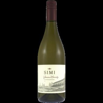 Bottle shot for 2019 Simi Chardonnay