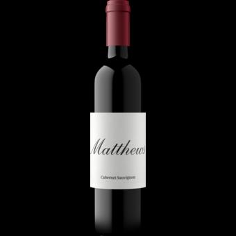 Bottle shot for 2018 Matthews Cabernet Sauvignon