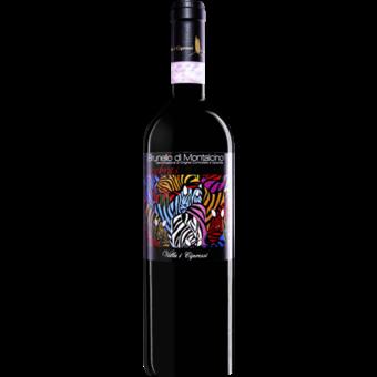 Bottle shot for 2016 Villa I Cipressi Zebras Brunello Di Montalcino