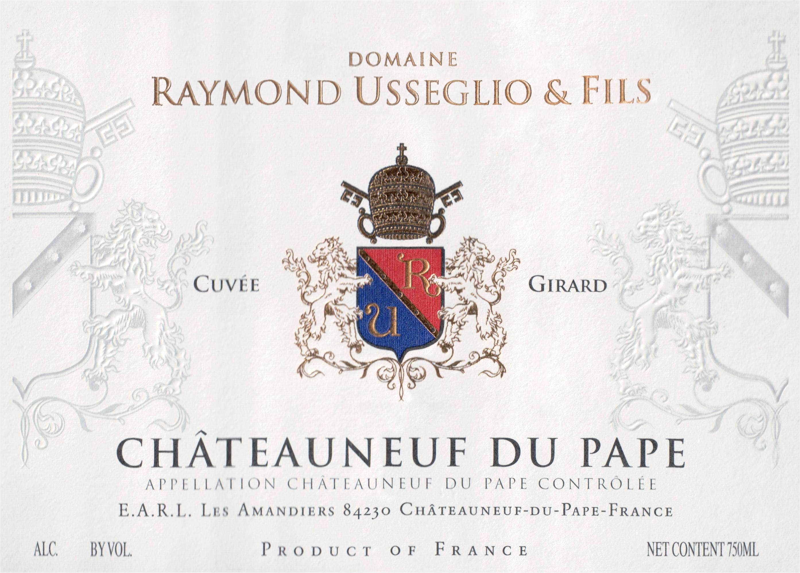 Domaine Raymond Usseglio Chateauneuf Du Pape Cuvee Girard 2018