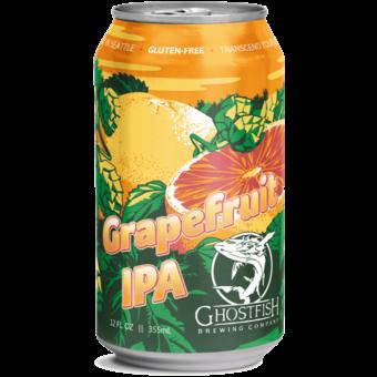 Bottle shot for  Ghostfish Gluten Free Grapefruit Ipa 12oz Cans