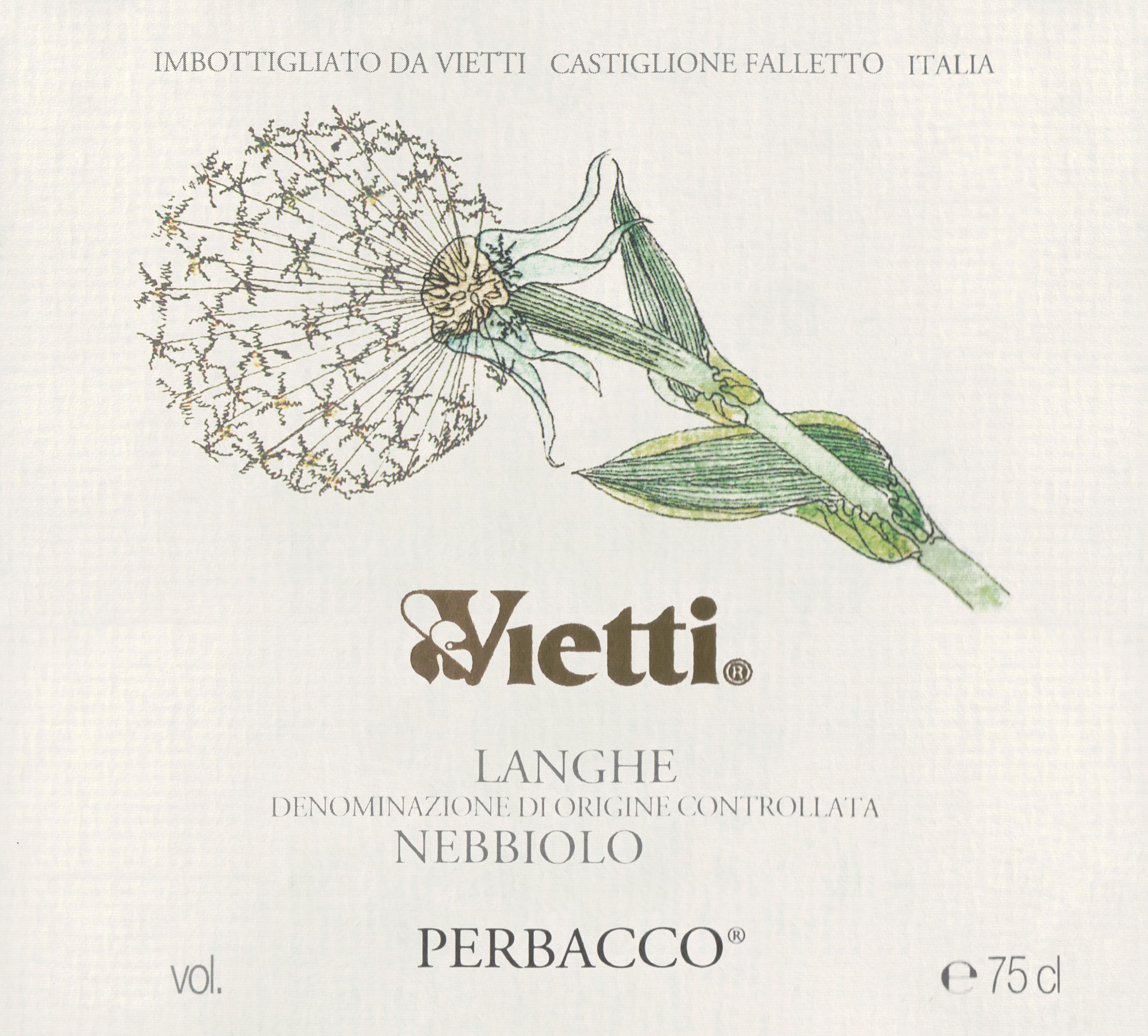 Vietti Nebbiolo Perbacco 2018