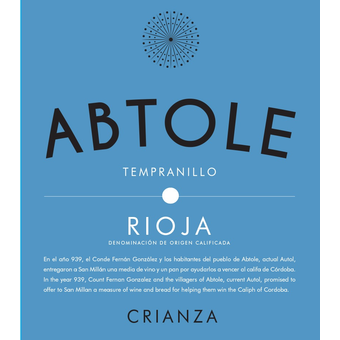Bottle shot for 2017 Abtole Rioja Crianza