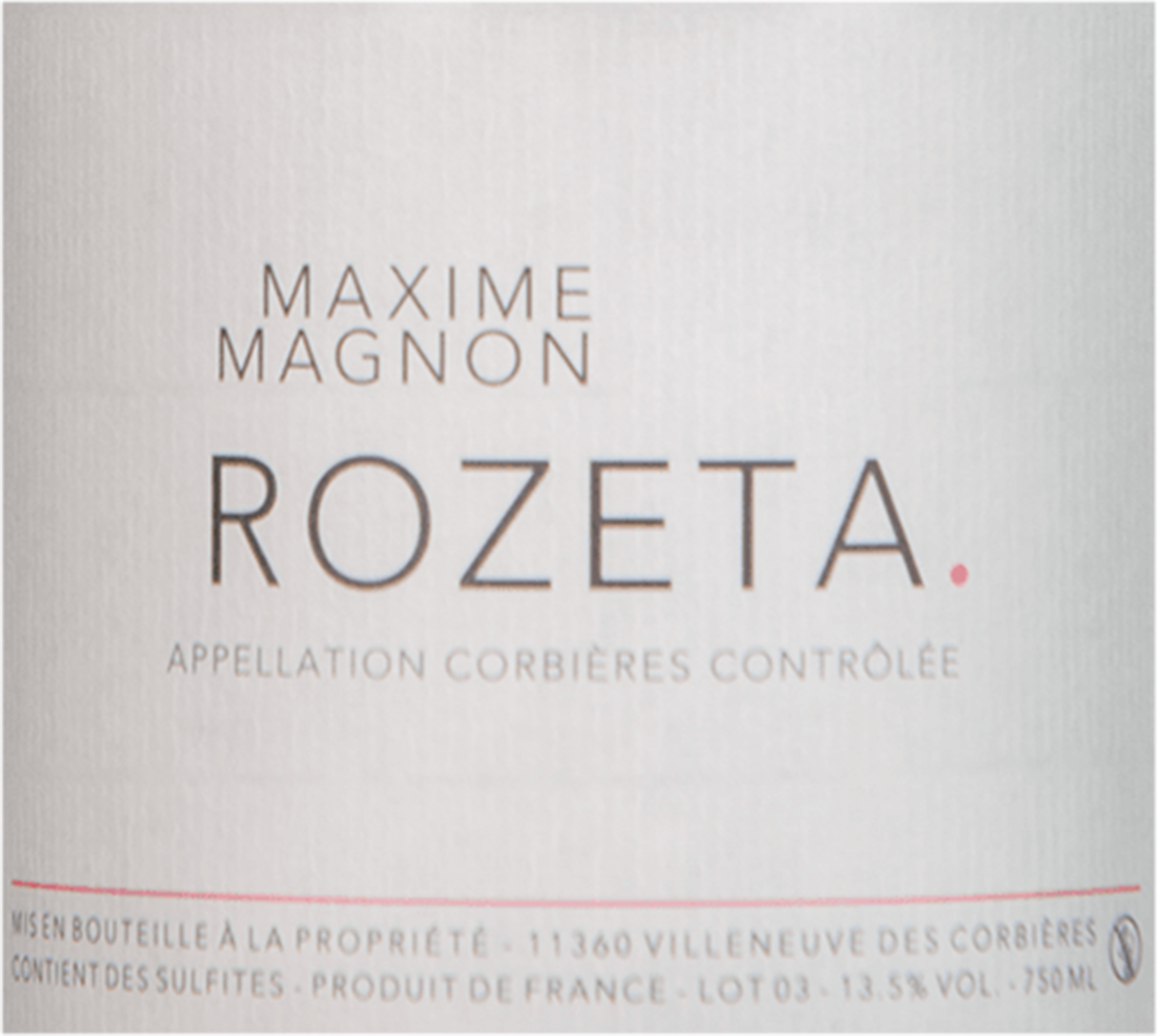 Maxine Magnon Rozeta Corbieres 2016