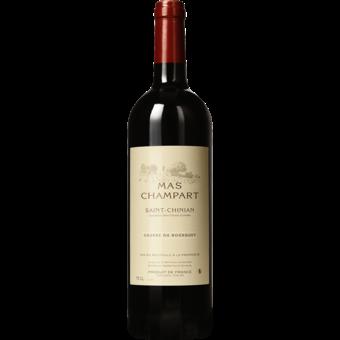 Bottle shot for 2015 Mas Champart St Chinian Causse Du Bousquet Rouge