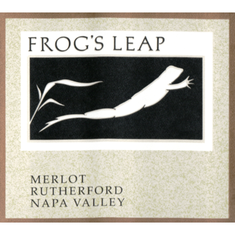 Label shot for 2018 Frogs Leap Merlot