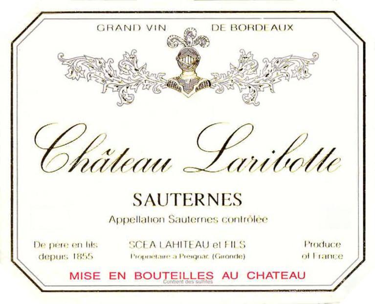 Chateau Laribotte Sauternes 2017