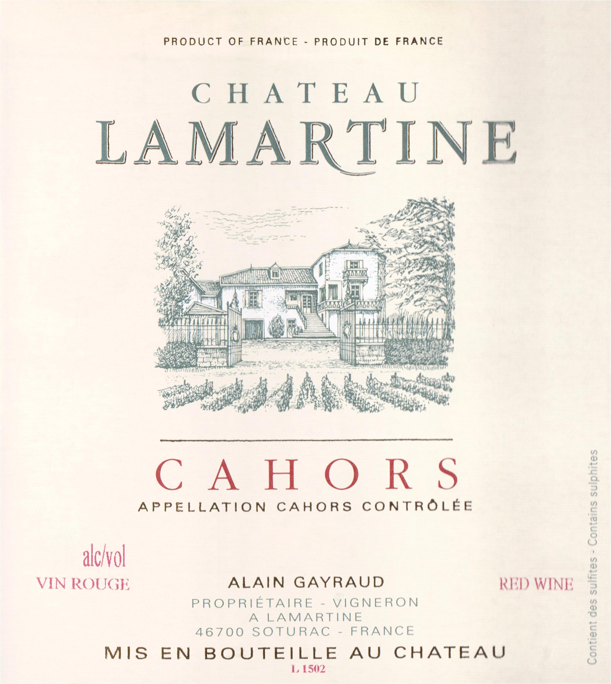 Chateau Lamartine Cahors 2016