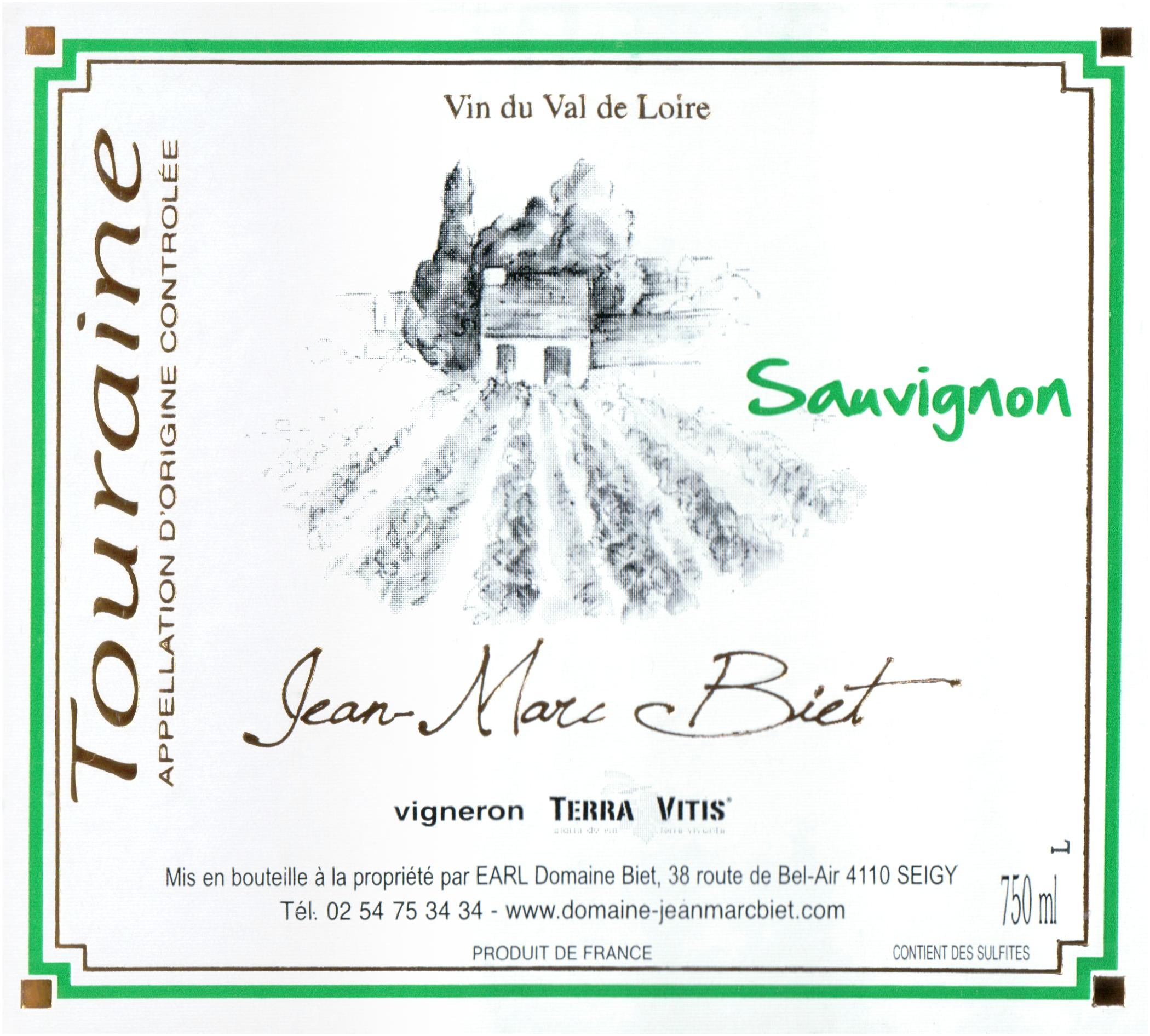 Jean Marc Biet Touraine Blanc 2019