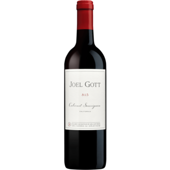 Bottle shot for 2018 Joel Gott Cabernet Sauvignon 815