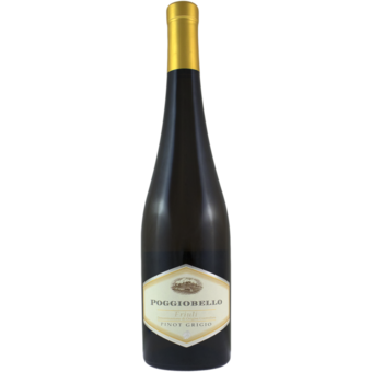 Bottle shot for 2019 Poggiobello Pinot Grigio