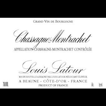 Label shot for 2018 Louis Latour Chassagne Montrachet