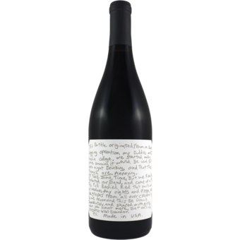 Bottle shot for 2018 Slo Down Wines Sexual Chocolate Red