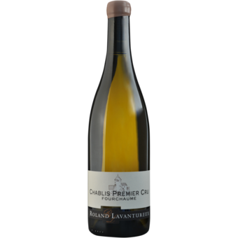 Bottle shot for 2018 Roland Lavantureux Chablis 1er Cru Fourchaume