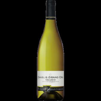 Bottle shot for 2018 Roland Lavantureux Chablis Grand Cru Vaudesir