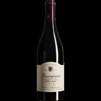 Bottle shot for 2018 Hudelot Baillet Bourgogne Pinot Noir