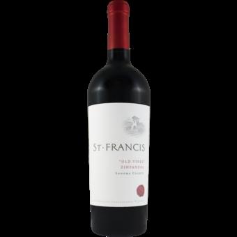 Bottle shot for 2018 St Francis Old Vine Zinfandel