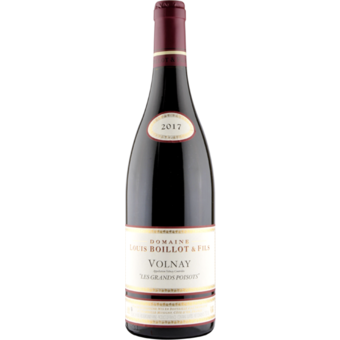 Bottle shot for 2017 Louis Boillot Volnay Les Grands Poisots