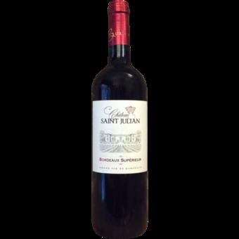 Bottle shot for 2018 Chateau Saint Julian Bordeaux Superieur