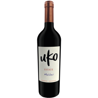 Bottle shot for 2019 Uko Estate Malbec