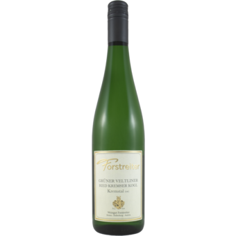 Bottle shot for 2019 Forstreiter Gruner Veltliner Kremstal Kremser Kogl