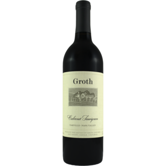 Bottle shot for 2016 Groth Cabernet Sauvignon Oakville