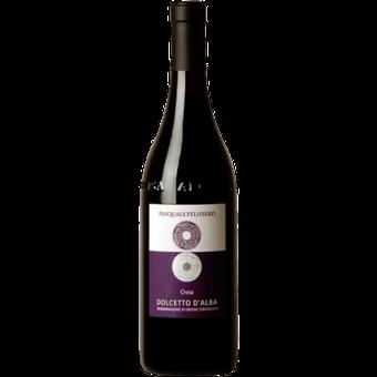 Bottle shot for 2017 Pasquale Pelissero 'cros' Dolcetto D'alba