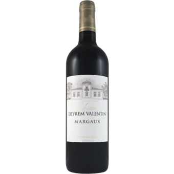 Bottle shot for 2017 Chateau Deyrem Valentin Margaux