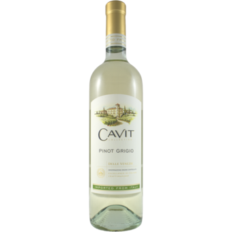 Bottle shot for 2020 Cavit Pinot Grigio